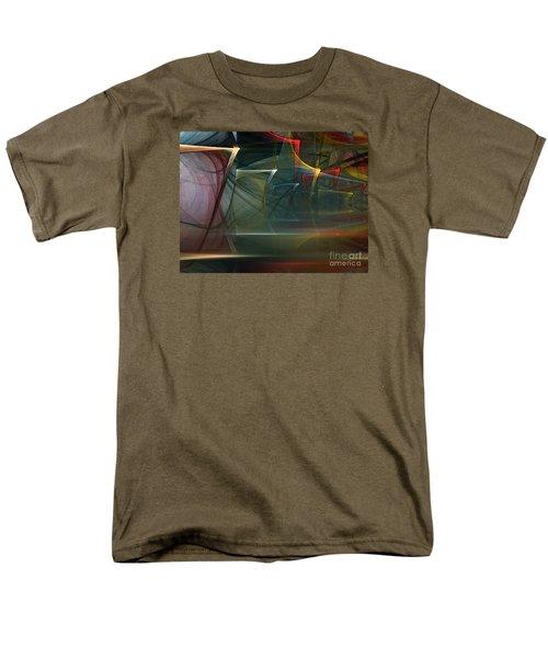 Men's T-Shirt  (Regular Fit) featuring the digital art Music Sound by Karin Kuhlmann