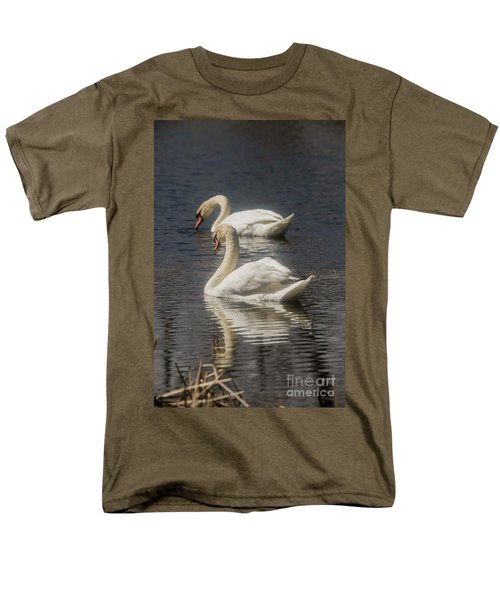 Men's T-Shirt  (Regular Fit) featuring the photograph Mute Swans by David Bearden