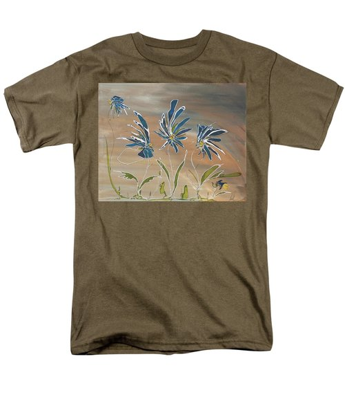 Men's T-Shirt  (Regular Fit) featuring the painting My Blue Garden by Pat Purdy