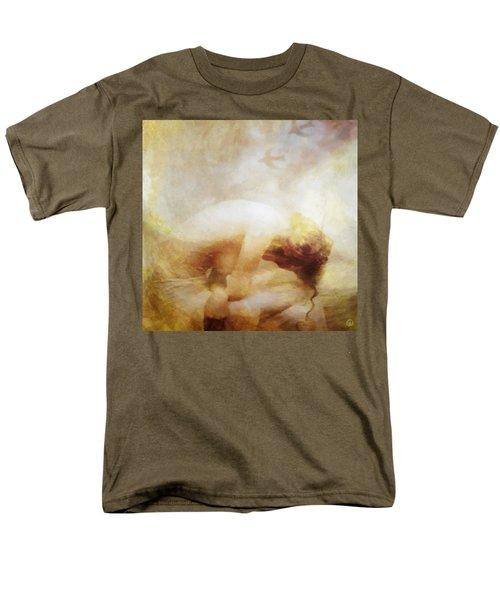 Men's T-Shirt  (Regular Fit) featuring the digital art My Dreams Fly Away by Gun Legler