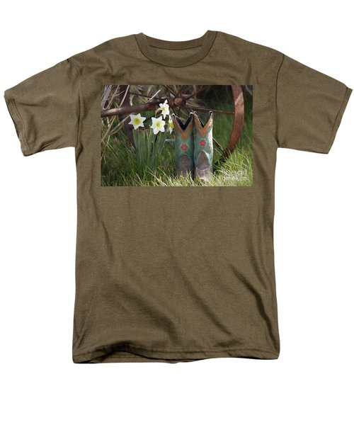 Men's T-Shirt  (Regular Fit) featuring the photograph My Favorite Boots by Benanne Stiens