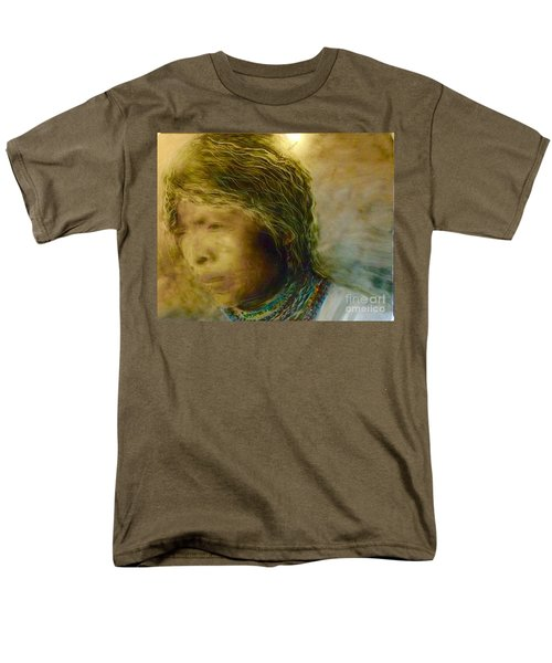 Men's T-Shirt  (Regular Fit) featuring the painting My Memory Walks Before Me by FeatherStone Studio Julie A Miller