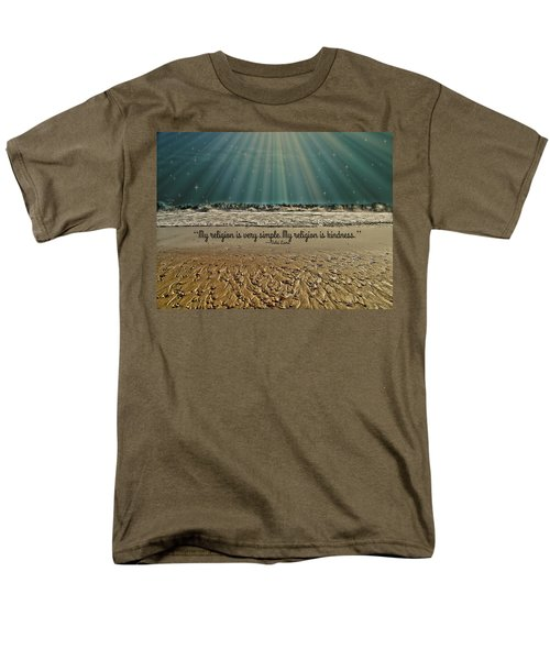 Men's T-Shirt  (Regular Fit) featuring the mixed media My Religion by Trish Tritz