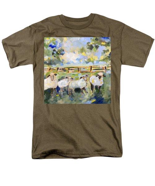 My Sheep Will Follow Me Men's T-Shirt  (Regular Fit)