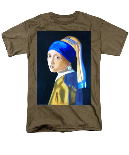 Men's T-Shirt  (Regular Fit) featuring the painting My Version-girl With The Pearl Earring by Rod Jellison