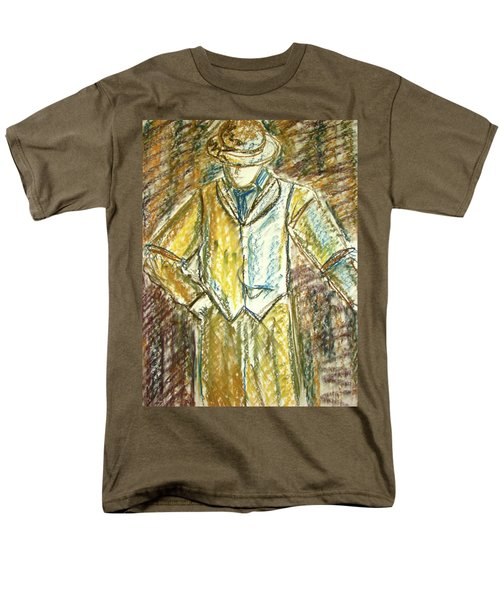 Men's T-Shirt  (Regular Fit) featuring the painting Mystery Man by Cathie Richardson