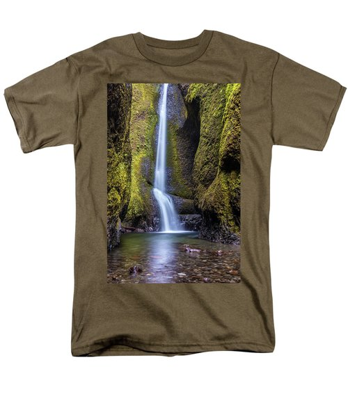 Mystical Oneonta Falls Men's T-Shirt  (Regular Fit) by Pierre Leclerc Photography