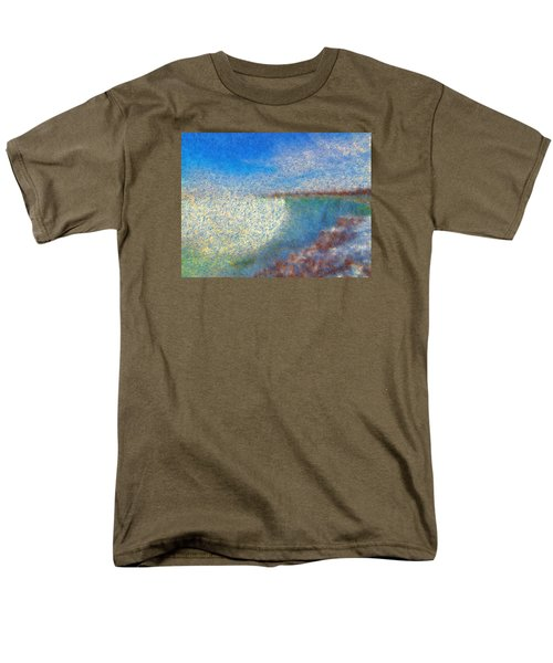 Men's T-Shirt  (Regular Fit) featuring the painting Nagara Falls Point Of View by Mario Carini