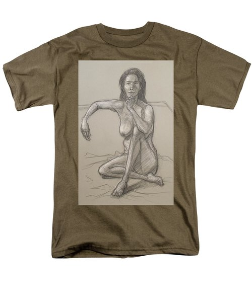 Men's T-Shirt  (Regular Fit) featuring the drawing Nancy   by Donelli  DiMaria