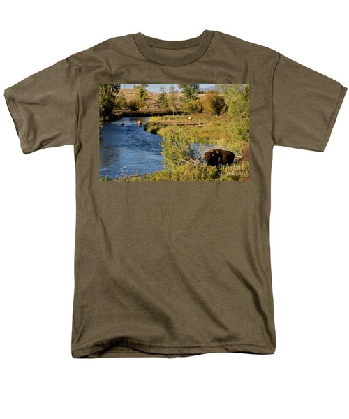 National Bison Range Men's T-Shirt  (Regular Fit) by Cindy Murphy - NightVisions