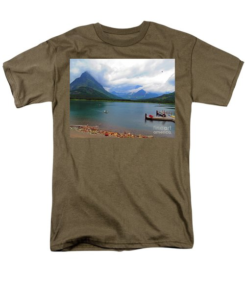 National Parks. Serenity Of Mcdonald Men's T-Shirt  (Regular Fit) by Ausra Huntington nee Paulauskaite