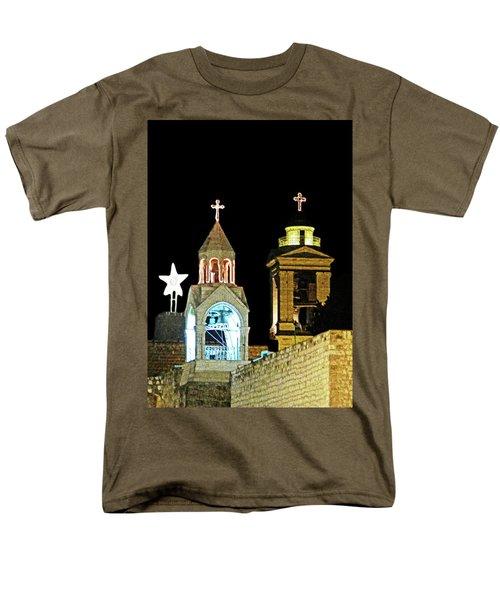 Men's T-Shirt  (Regular Fit) featuring the photograph Nativity Church Lights by Munir Alawi