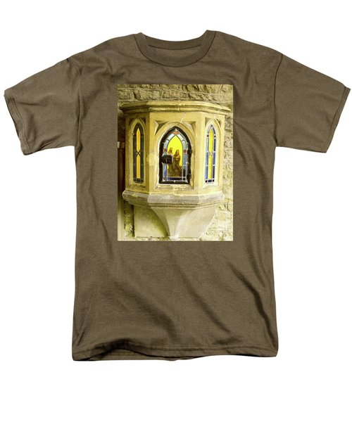 Nativity In Ancient Stone Wall Men's T-Shirt  (Regular Fit) by Linda Prewer