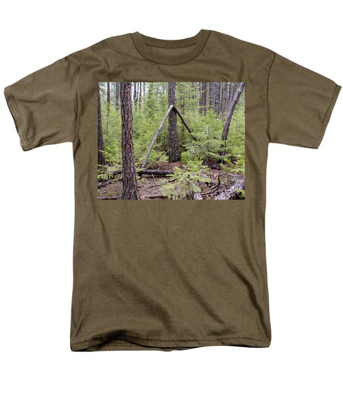 Men's T-Shirt  (Regular Fit) featuring the photograph Natural Peace In The Woods by Ben Upham III
