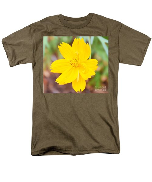 Men's T-Shirt  (Regular Fit) featuring the photograph Nature Colorful Flower Gifts - Yellow by Ray Shrewsberry