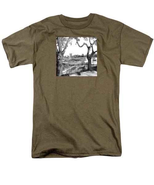 Men's T-Shirt  (Regular Fit) featuring the drawing Nature Sketch by John Stuart Webbstock