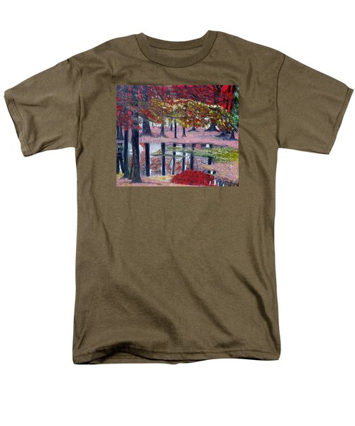 Men's T-Shirt  (Regular Fit) featuring the painting Natures Painting by Marilyn  McNish