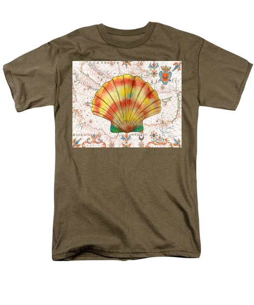 Men's T-Shirt  (Regular Fit) featuring the painting Nautical Treasures-f by Jean Plout