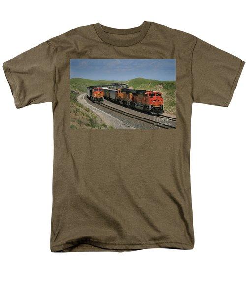 Nebraska Coal Trains Men's T-Shirt  (Regular Fit) by Garry McMichael