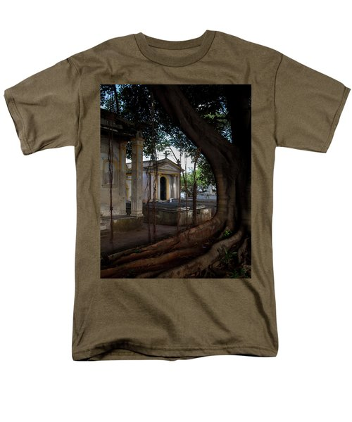 Men's T-Shirt  (Regular Fit) featuring the photograph Necropolis Cristobal Colon Havana Cuba Cemetery by Charles Harden