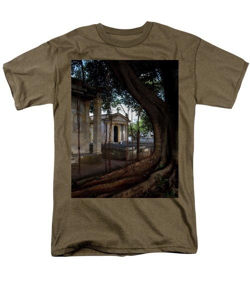 Necropolis Cristobal Colon Havana Cuba Cemetery Men's T-Shirt  (Regular Fit) by Charles Harden