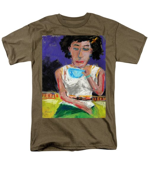 Men's T-Shirt  (Regular Fit) featuring the painting Need Coffee by John Williams