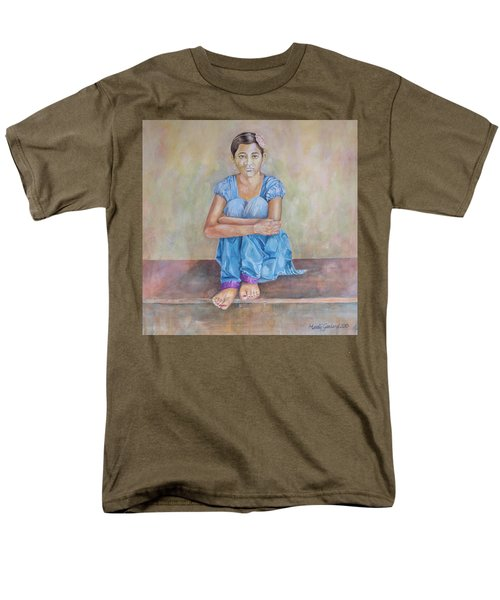 Nepal Girl 4 Men's T-Shirt  (Regular Fit) by Marty Garland