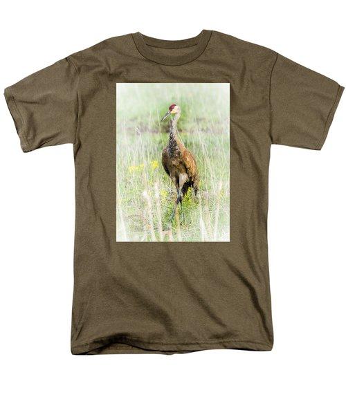 Men's T-Shirt  (Regular Fit) featuring the photograph Nesting Sandhill Crane by Daniel Hebard