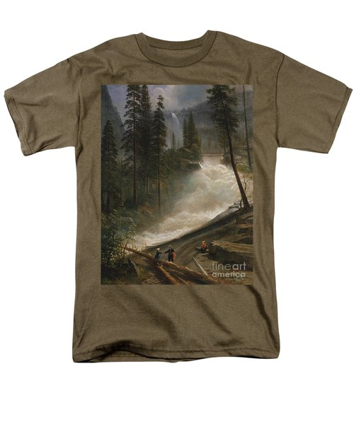 Men's T-Shirt  (Regular Fit) featuring the photograph Nevada Falls Yosemite                                by John Stephens