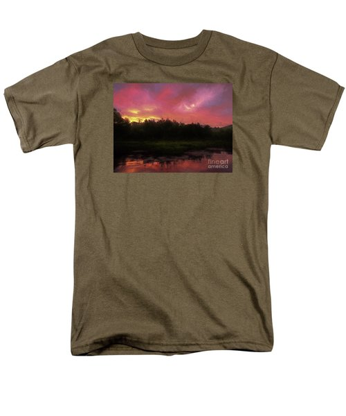 Men's T-Shirt  (Regular Fit) featuring the photograph New Hampshire Sunrise Glaze by Mim White