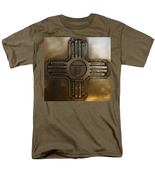 Men's T-Shirt  (Regular Fit) featuring the photograph New Mexico State Symbol The Zia by Joseph Frank Baraba