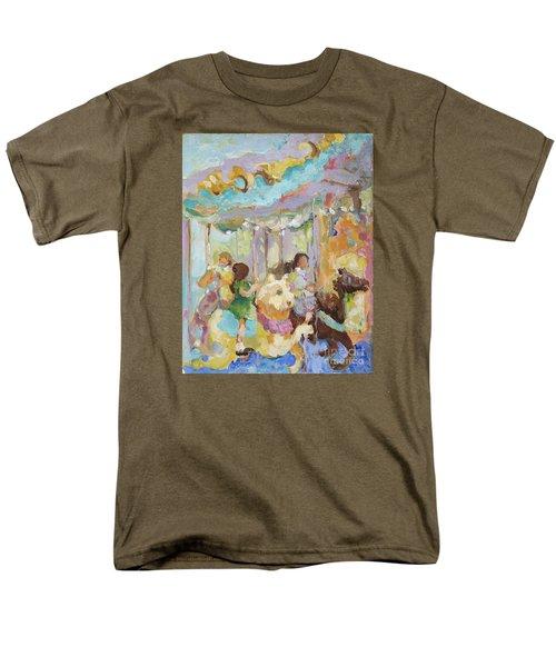 New York Carousel Men's T-Shirt  (Regular Fit) by Sharon Furner