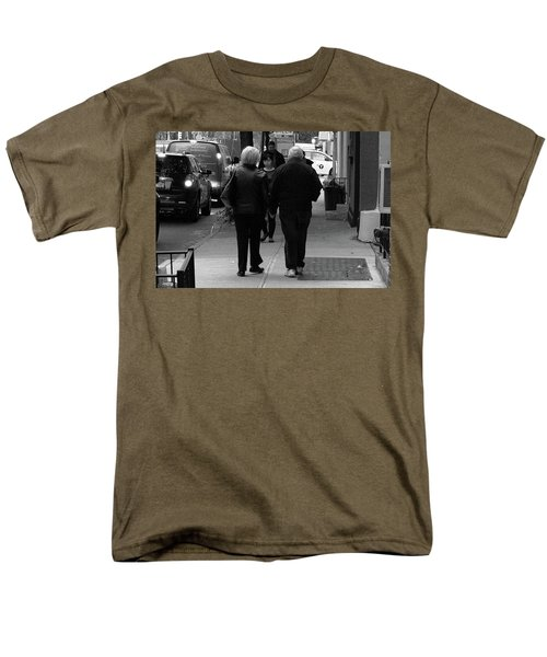 Men's T-Shirt  (Regular Fit) featuring the photograph New York Street Photography 75 by Frank Romeo