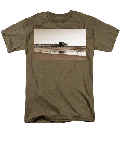 Men's T-Shirt  (Regular Fit) featuring the photograph Newport Beach Pier by Everette McMahan jr