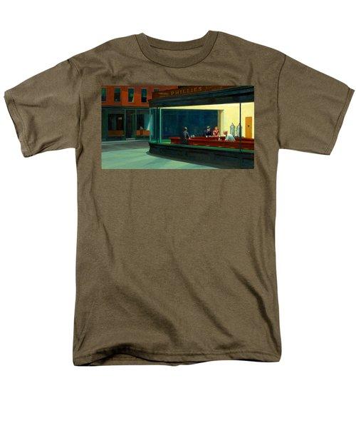 Night Hawks Men's T-Shirt  (Regular Fit) by Edward Hopper