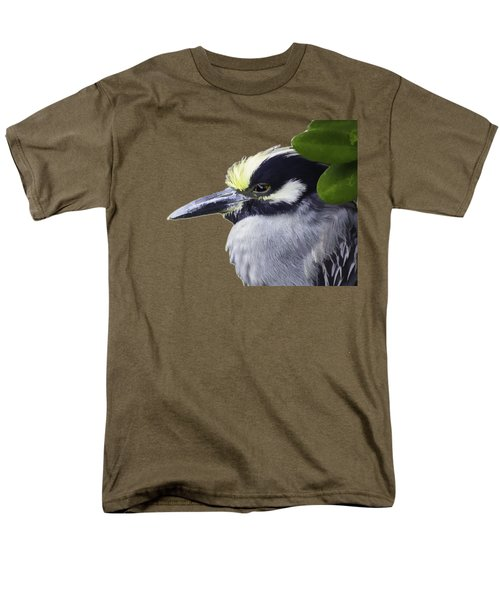 Night Heron Transparency Men's T-Shirt  (Regular Fit) by Richard Goldman