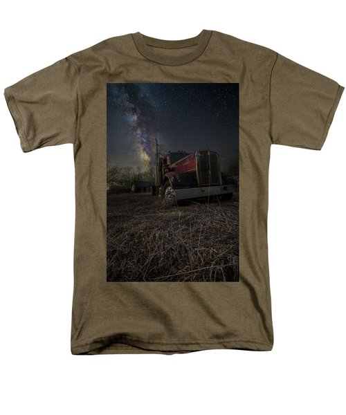 Men's T-Shirt  (Regular Fit) featuring the photograph Night Rig by Aaron J Groen