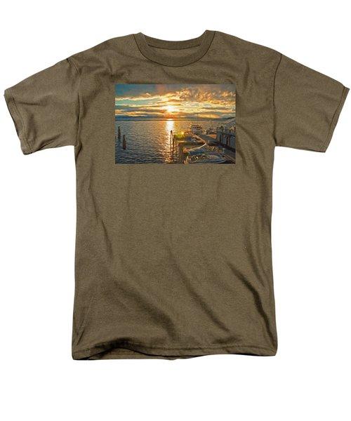Nighttime Dockage Men's T-Shirt  (Regular Fit) by Rena Trepanier