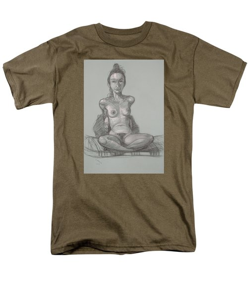 Men's T-Shirt  (Regular Fit) featuring the drawing Nina Seated by Donelli  DiMaria