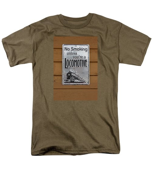 Men's T-Shirt  (Regular Fit) featuring the photograph No Smoking Unless Youre A Locomotive by Suzanne Gaff
