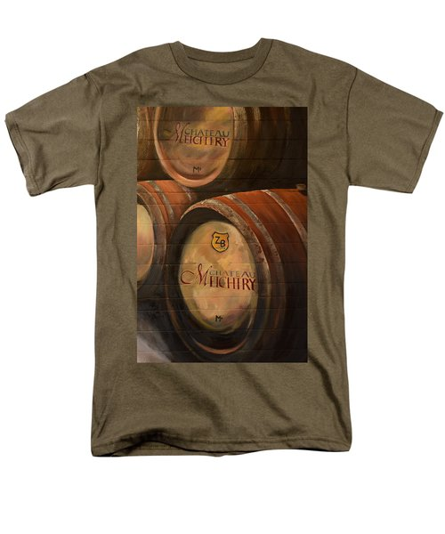 No Wine Before It's Time - Barrels-chateau Meichtry Men's T-Shirt  (Regular Fit) by Jan Dappen
