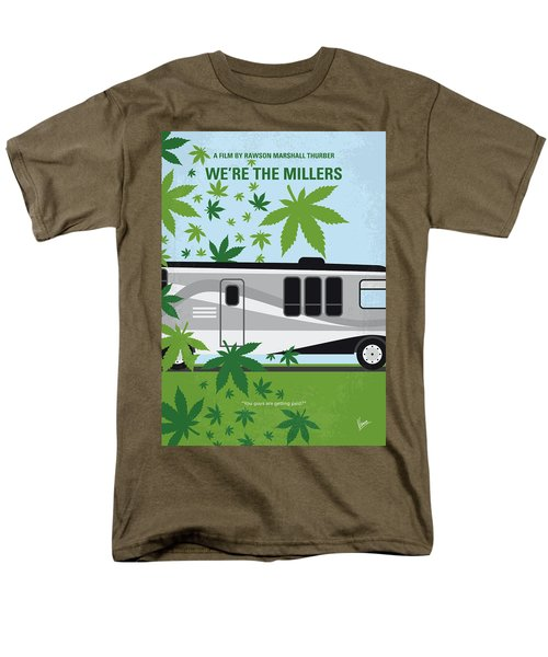 Men's T-Shirt  (Regular Fit) featuring the digital art No763 My We Are The Millers Minimal Movie Poster by Chungkong Art