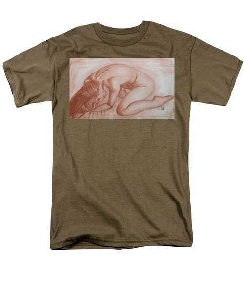 Men's T-Shirt  (Regular Fit) featuring the painting Nocturne by Jarko Aka Lui Grande