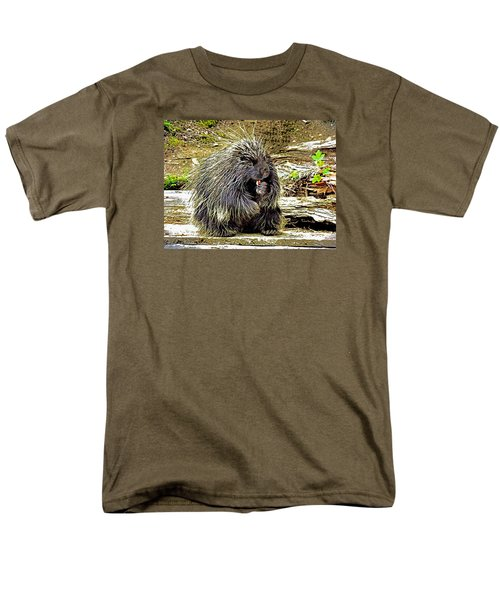 Men's T-Shirt  (Regular Fit) featuring the photograph North American Porcupine by Kathy Kelly
