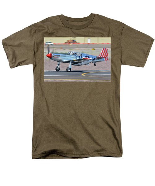 Men's T-Shirt  (Regular Fit) featuring the photograph North American Tp-51c-10 Mustang Nl251mx Betty Jane Deer Valley Arizona April 13 2016 by Brian Lockett