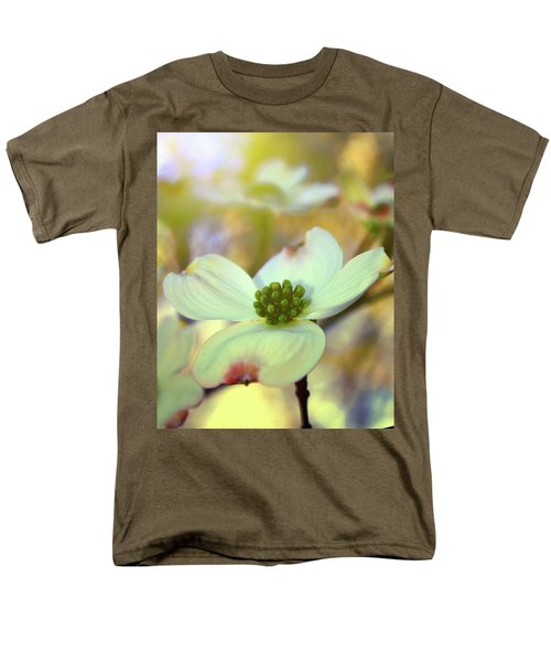 Men's T-Shirt  (Regular Fit) featuring the painting North Carolina Dogwood State Flower by Gray  Artus