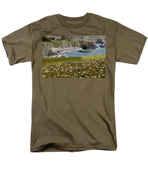Northern California Coast Scene Men's T-Shirt  (Regular Fit) by Mick Anderson