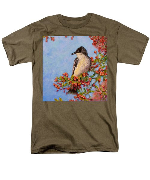 Men's T-Shirt  (Regular Fit) featuring the painting Northern King Bird  by Joe Bergholm