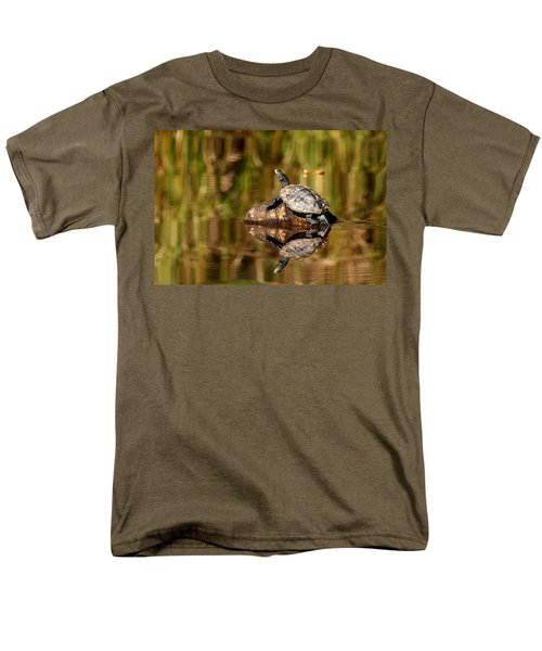 Northern Map Turtle Men's T-Shirt  (Regular Fit) by Debbie Oppermann