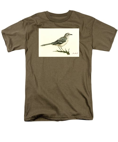 Northern Mockingbird Men's T-Shirt  (Regular Fit) by Juan  Bosco